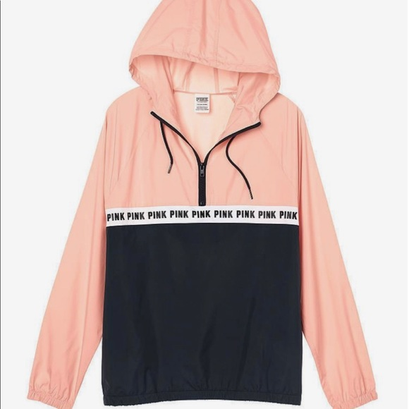 PINK Victoria's Secret Jackets & Blazers - pink windbreaker